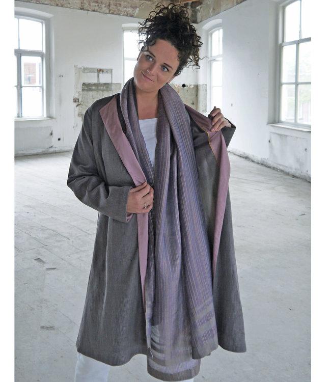 Akaaro Coat lavender cotton & silk