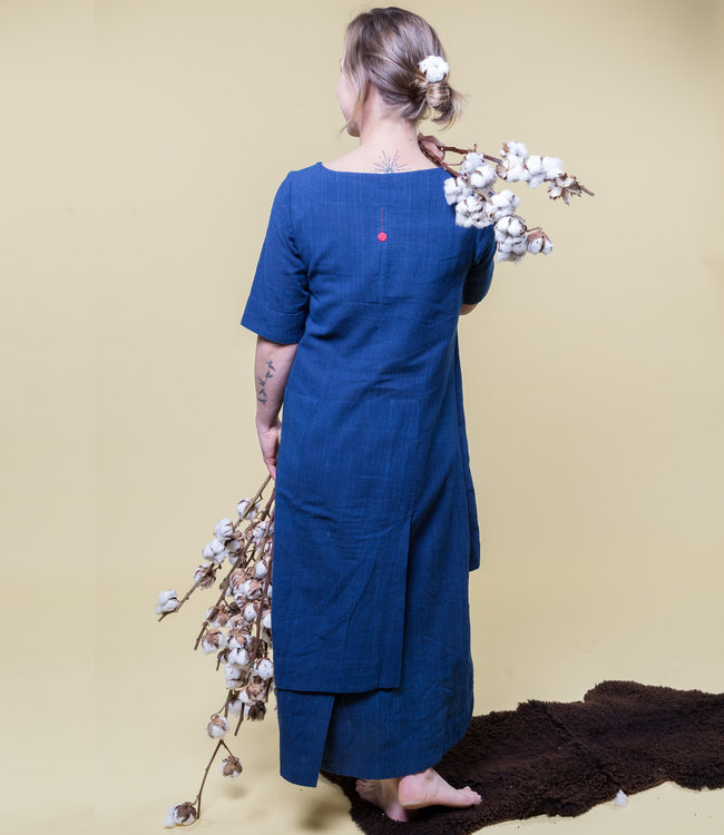 Upasana Long darkblue layered dress