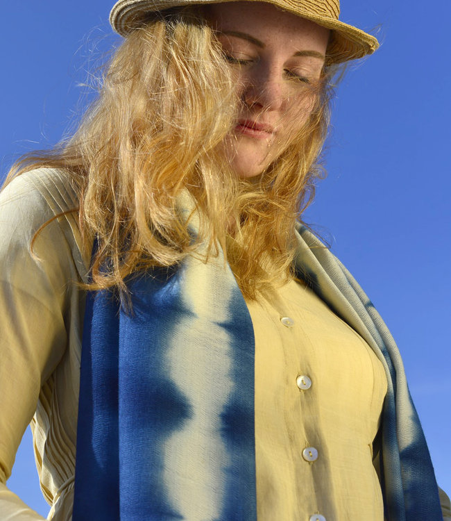 Upasana Yellow button dress organic cotton
