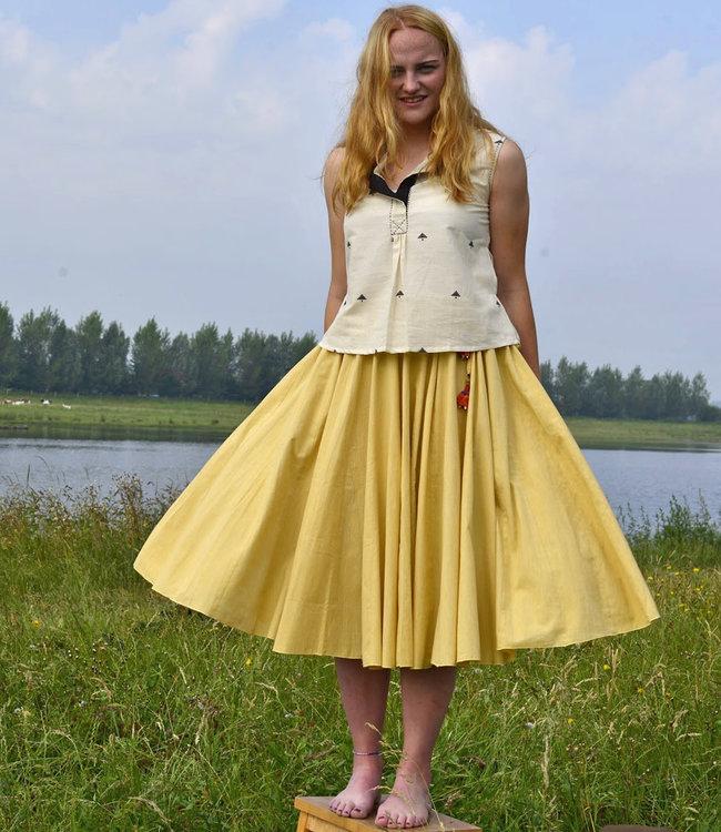 Upasana Circle skirt organic cotton yellow