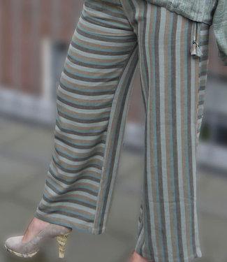 Padmaja Organic cotton pants green striped