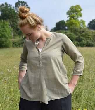 Upasana Groene blouse biologisch katoen