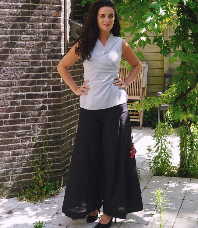 Upasana Pants organic cotton black wide legs
