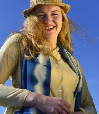 Avani Woolen scarf blue