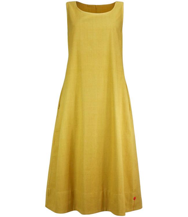 Upasana Dress sleeveless mustard yellow