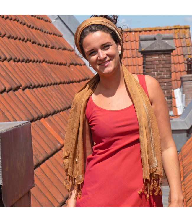 Upasana Dress red sleeveless