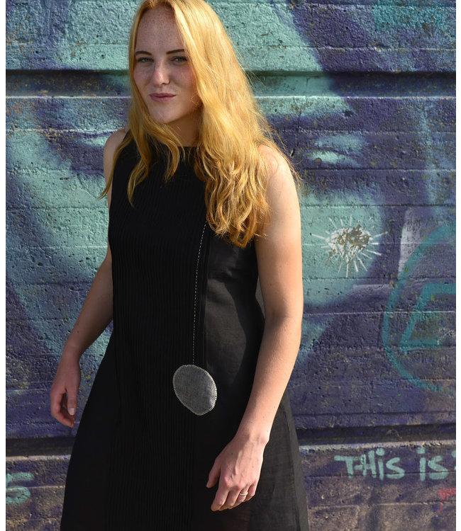 Upasana Black pleated dress sleeveless