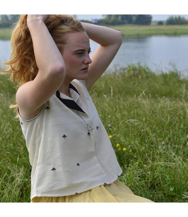 Upasana Top white organic cotton sleeveless