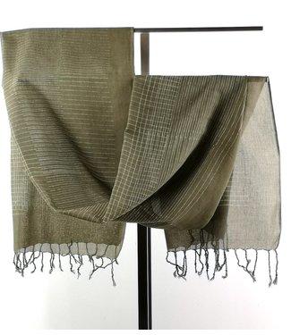 Upasana Katoenen sjaal olijfgroen