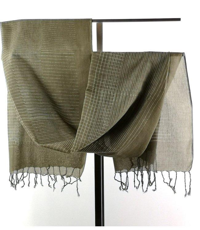 Upasana Cotton scarf olive green