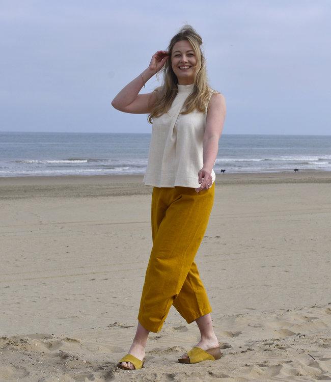 HOWS Pants cotton saffron yellow