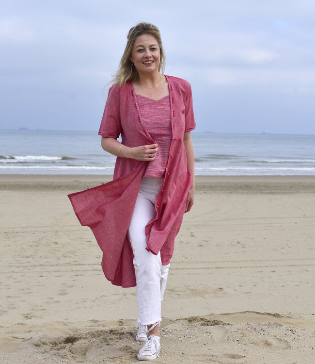 Cotton Rack Tunic - Dress with top