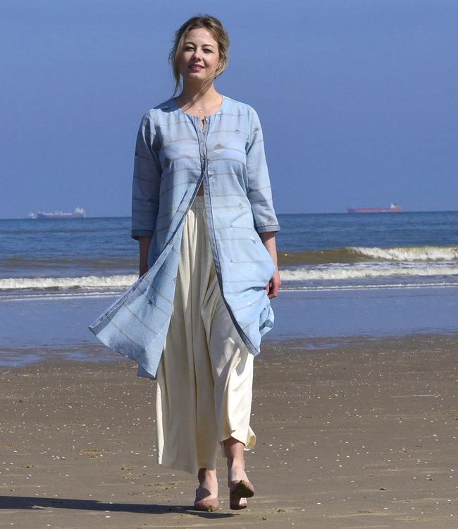 Karomi Cotton tunic light blue