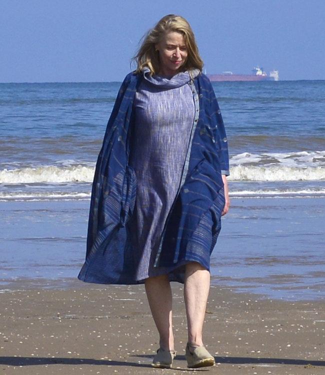 Karomi Tuniek katoen donkerblauw