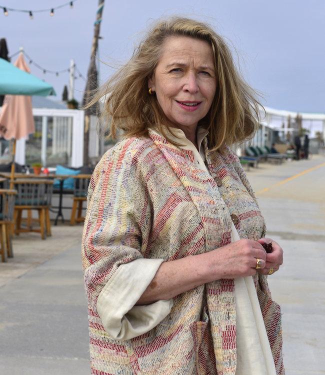 HOWS Kimono-jas zijde upcycled pastel