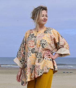 HOWS Kimonojas zijde geborduurd