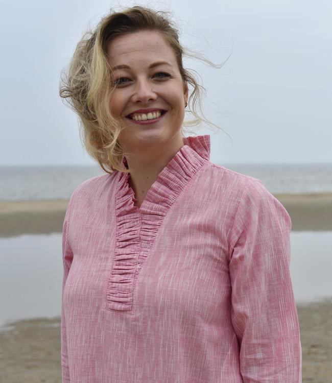 Cotton Rack Pink dress with ruffles