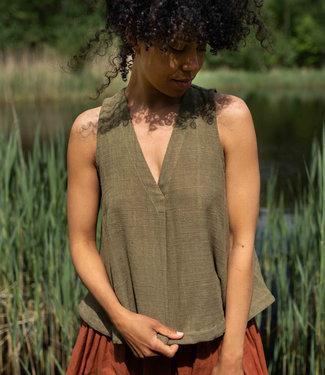 Crow Top olive green sleeveless
