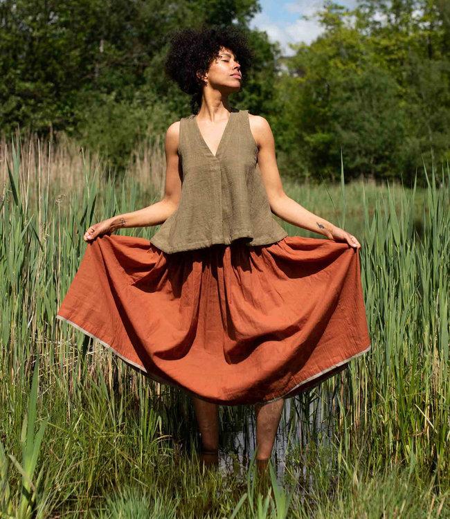 Crow Skirt rust brown