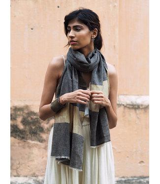 HOWS Pashmina sjaal zwart met goud