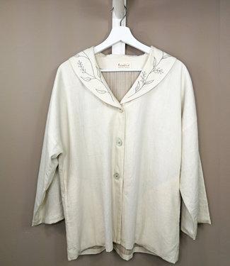 Sunbird Short Jacket white organic cotton