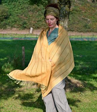 Himalayan Weavers Sjaal geel katoen & zijde