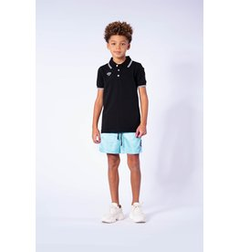 Black Bananas Jr. Wavy Polo Black & White