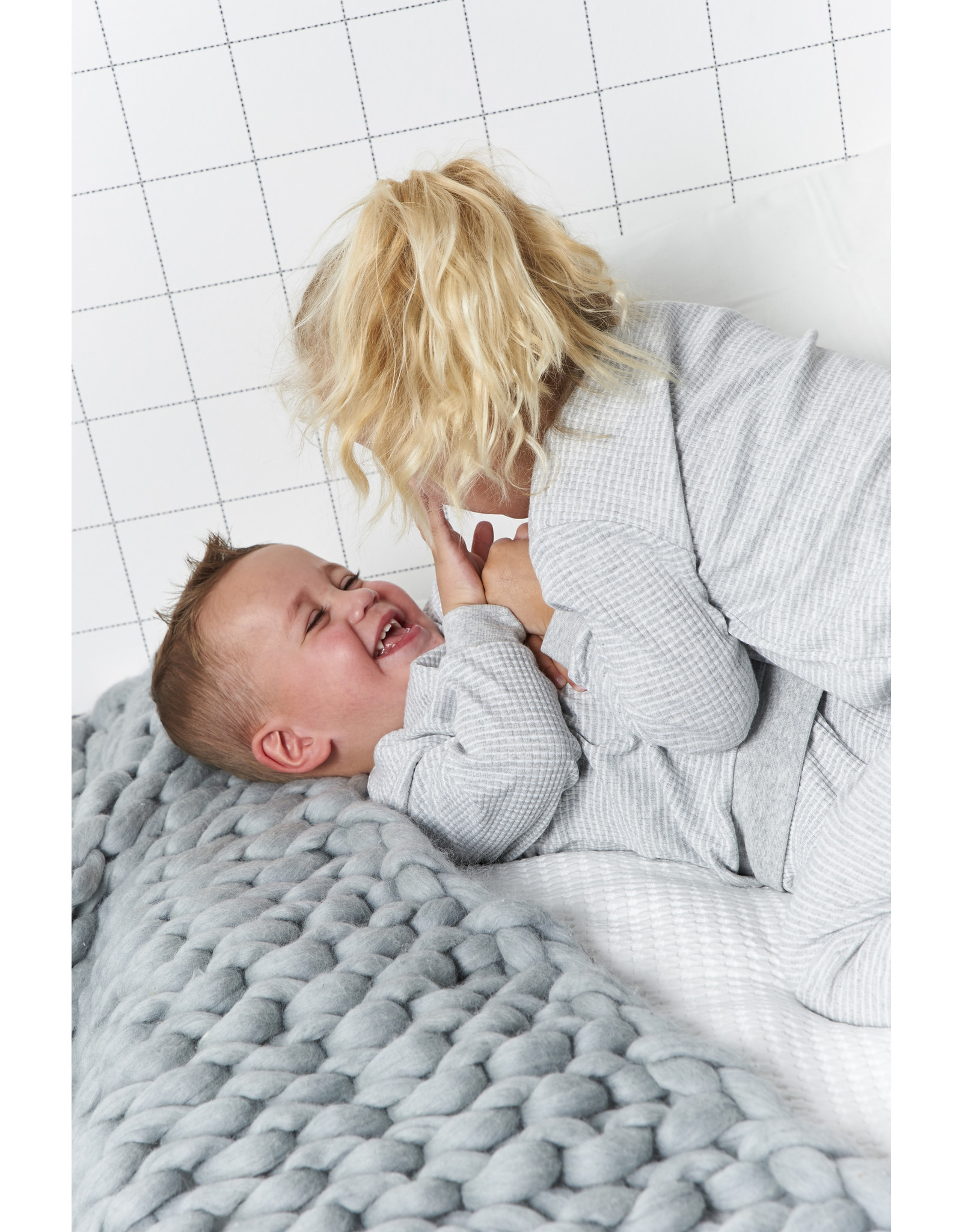 Feetje pyjama grijs melange