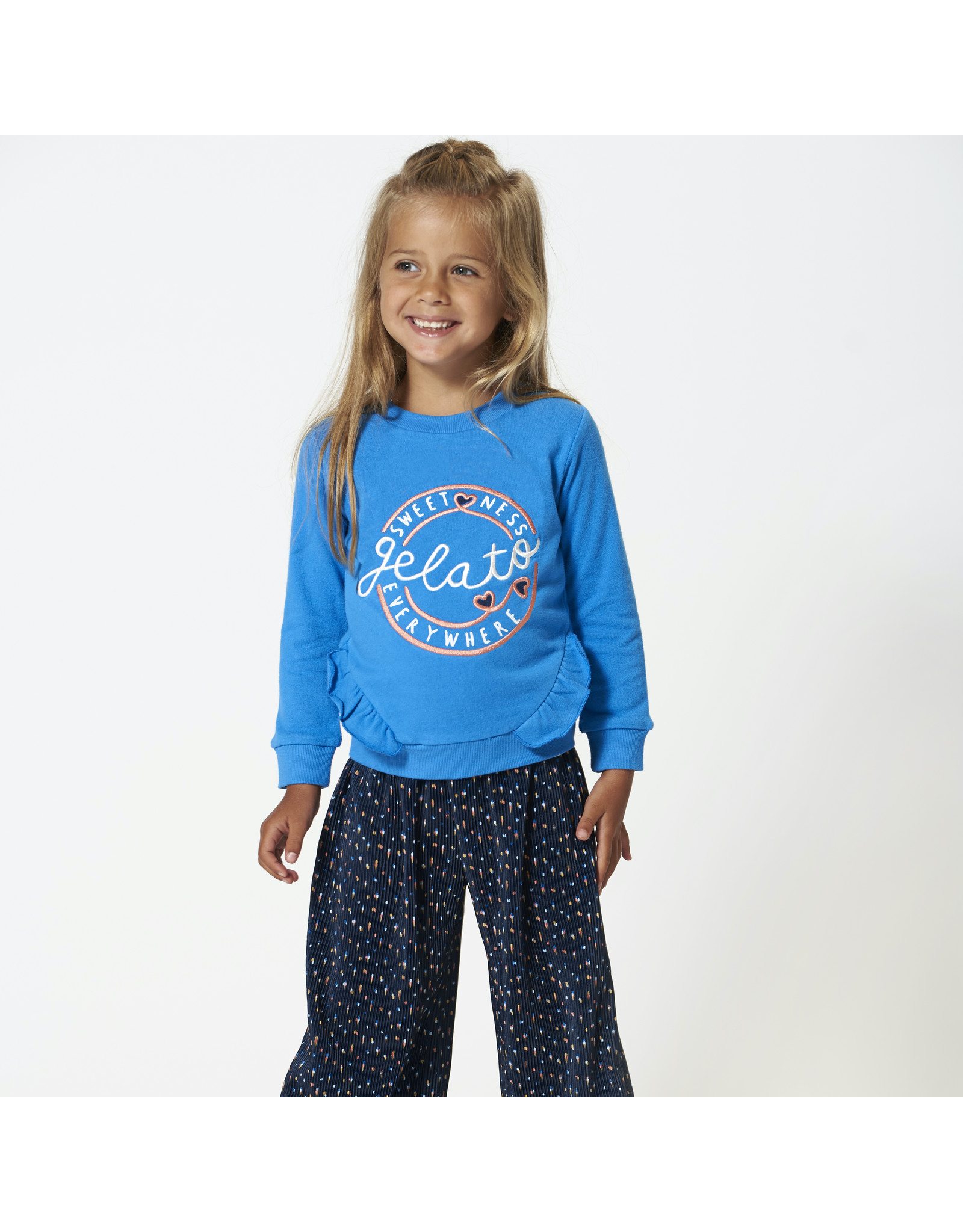 Sweater ruches blue