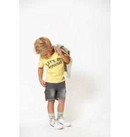 T-shirt Let's Go geel