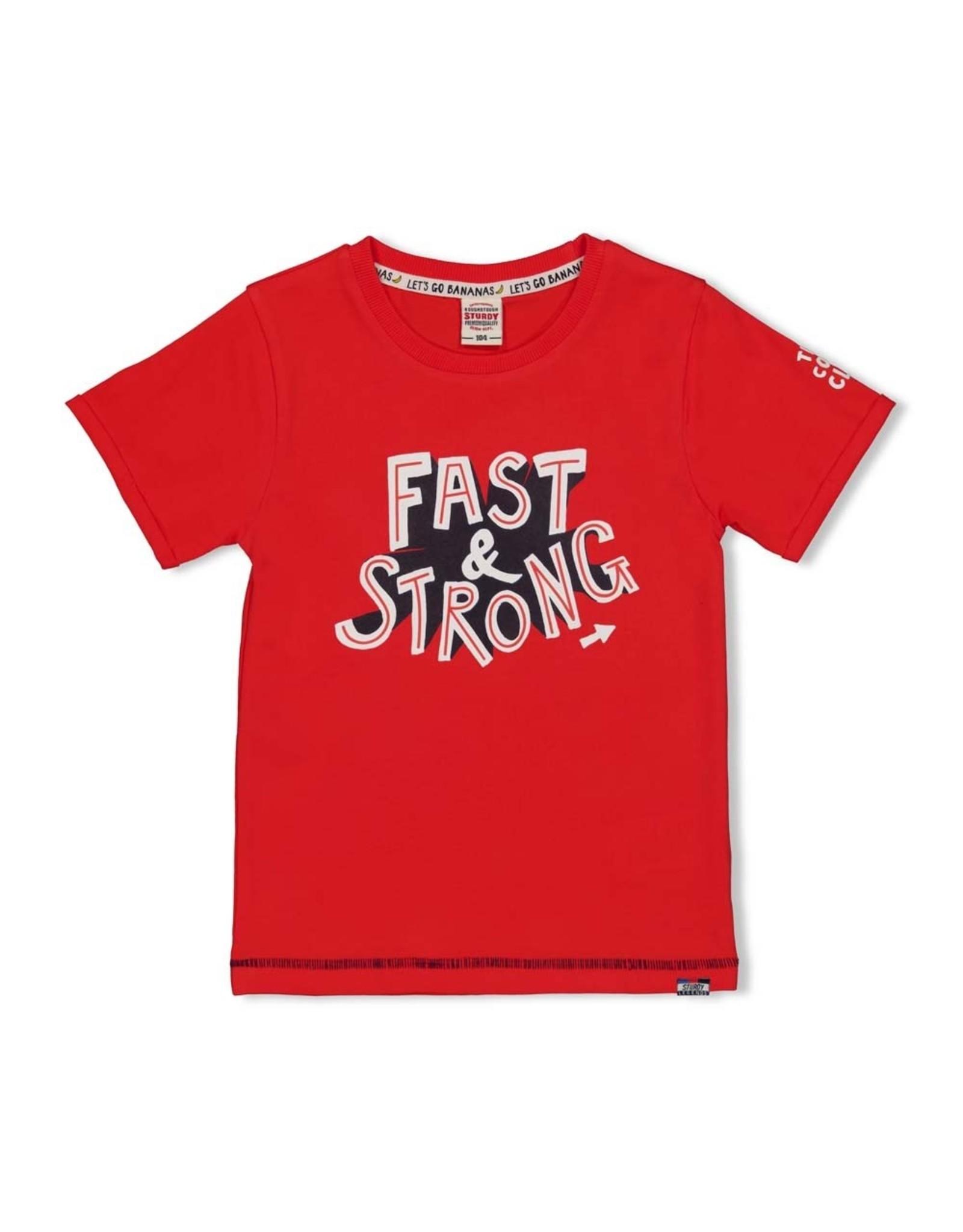 T-shirt Fast rood
