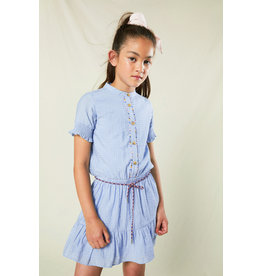 Nono Blauw jurkje met koord