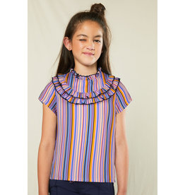 Nono Korte mouw blouse met ruffle