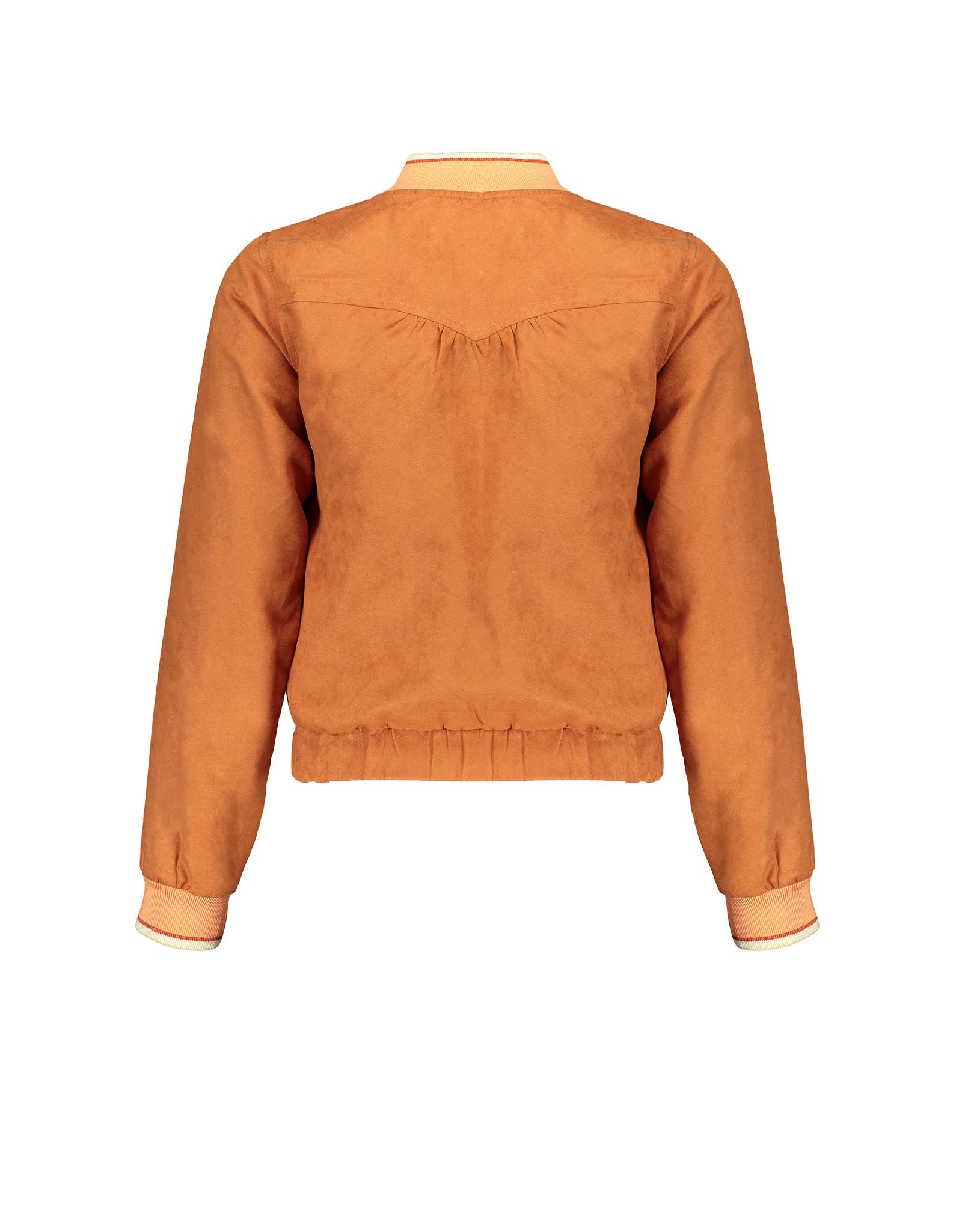 Nobell' Reversible cardigan jas in suede en print