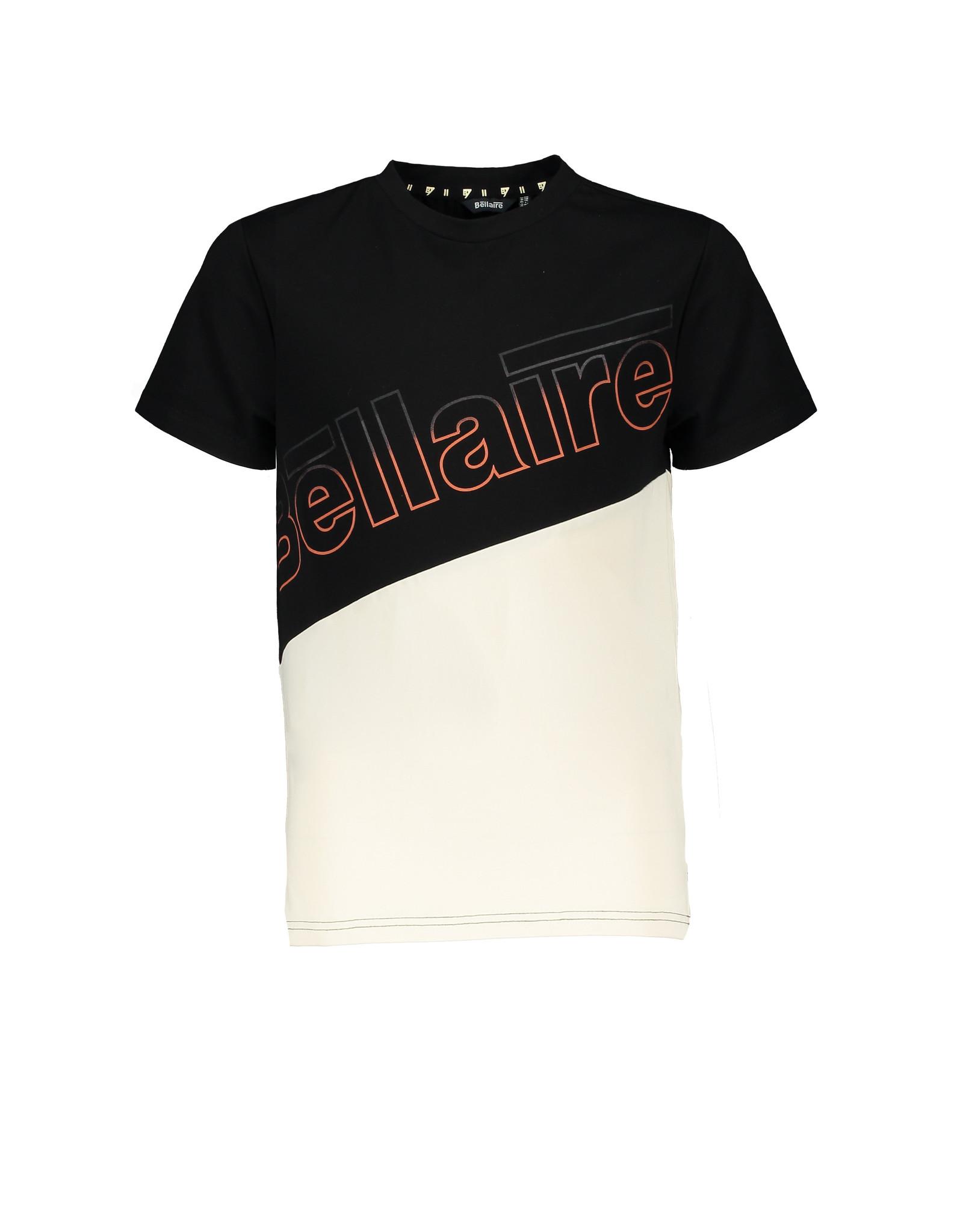 Bellaire T-shirt colourblock zwart