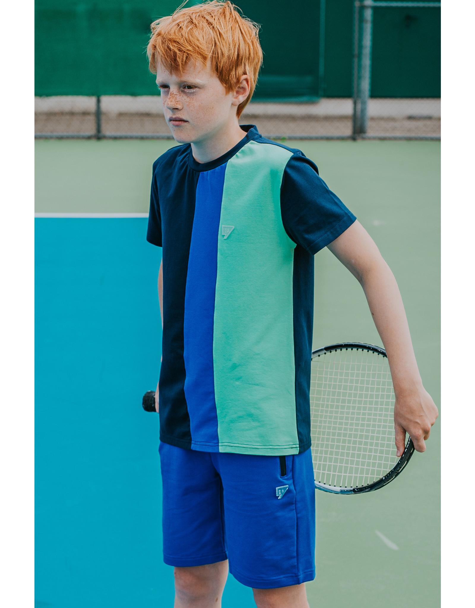 Bellaire Effen shorts blauw