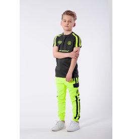 Black Bananas Jr F.C. Match Tee grijs & neon geel