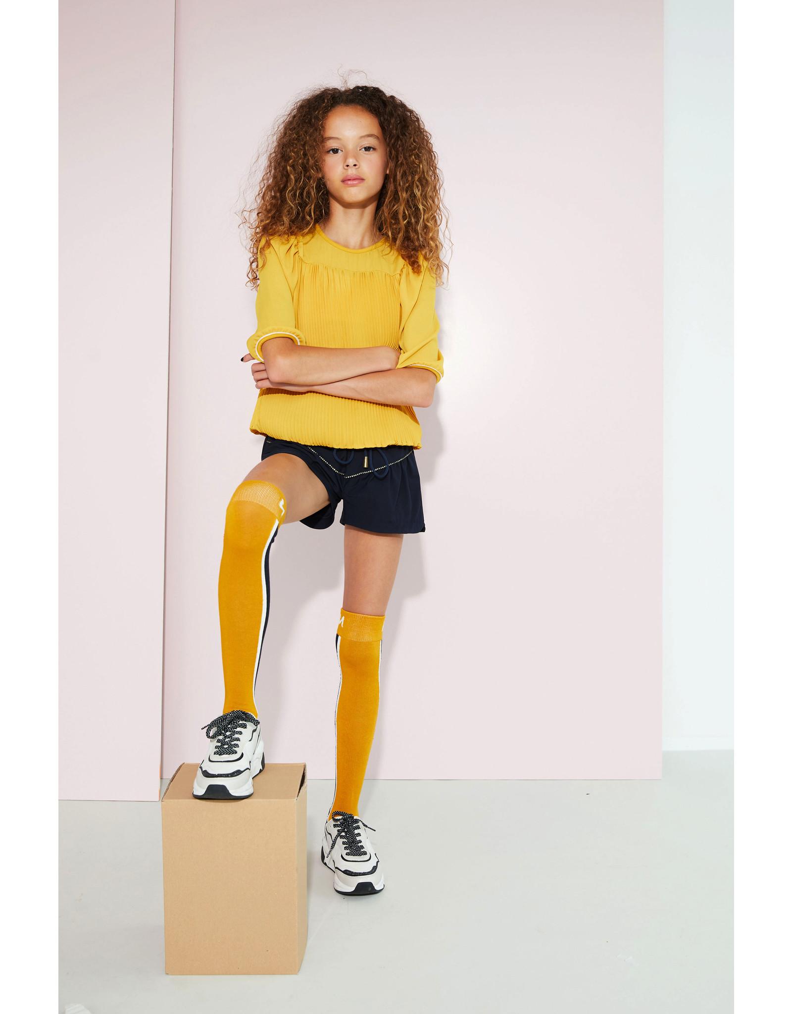 Nobell' Plisse blouse geel