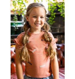 B-nosy Bruin glitter t-shirt Iconic met ruffle mouw
