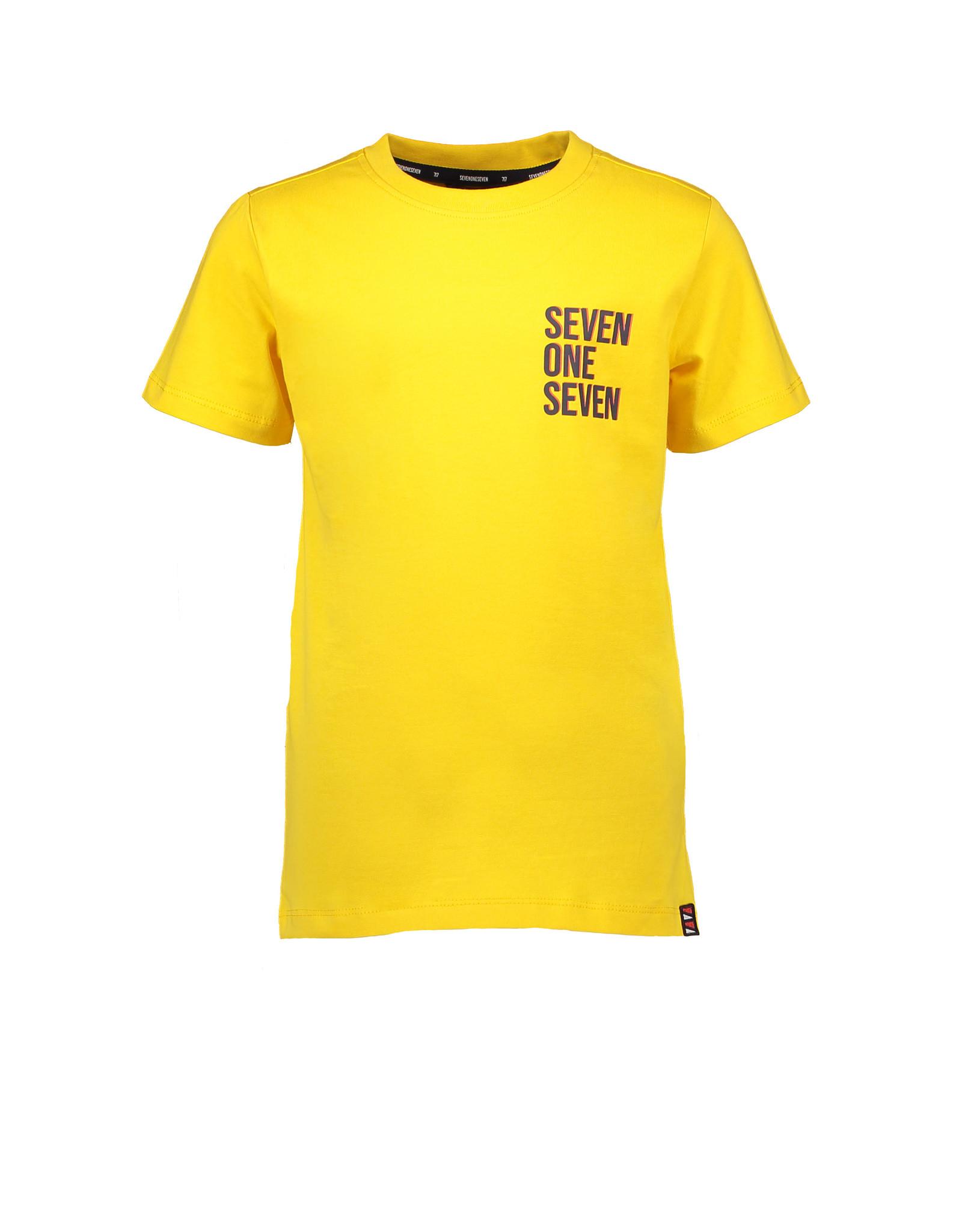 SevenOneSeven T-shirt met klein logo geel