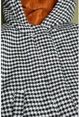 Nono winterjas Badras wooly black/white