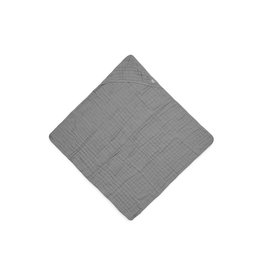 Jollein Cotton badcape  75x75cm storm grey
