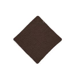 Jollein Cotton badcape 75x75cm Chestnut