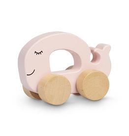 Jollein Houten speelgoed auto walvis pink