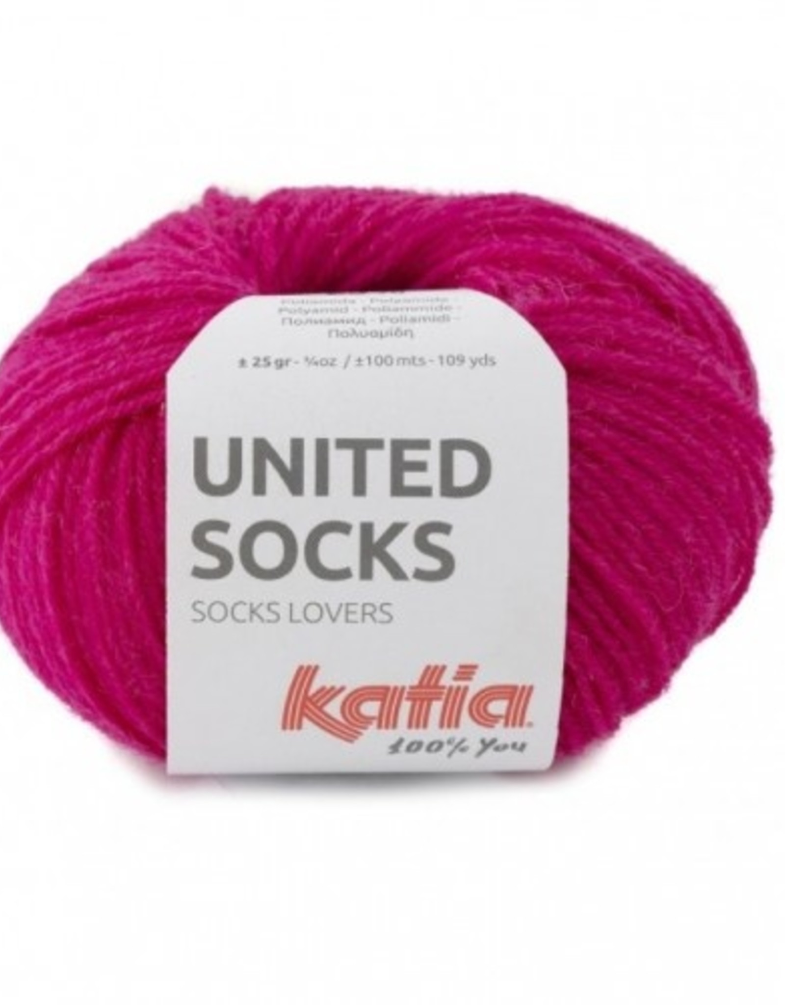 Katia Katia United Socks -  Fuchsia  -15-
