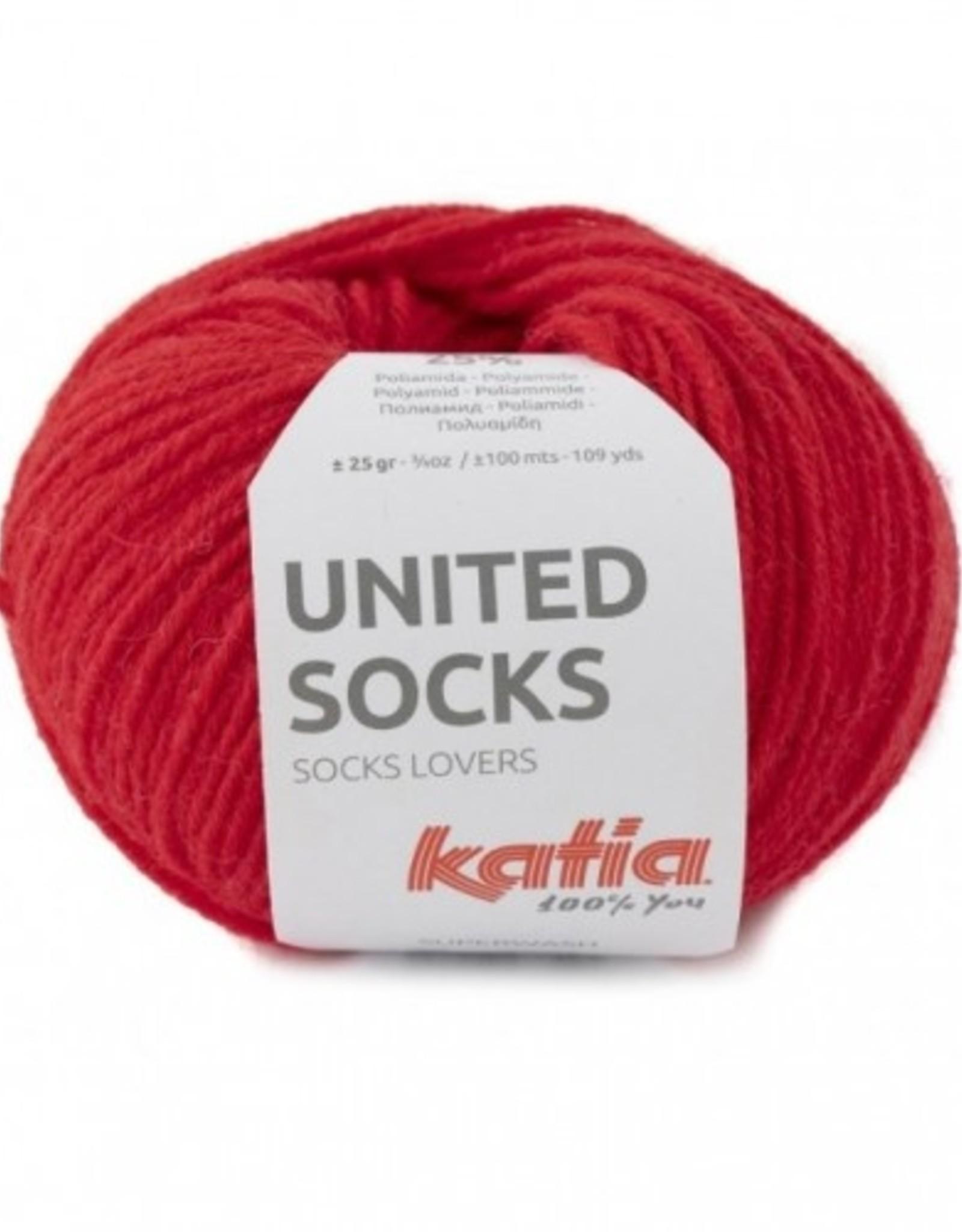 Katia Katia United Socks -   Rood -16-