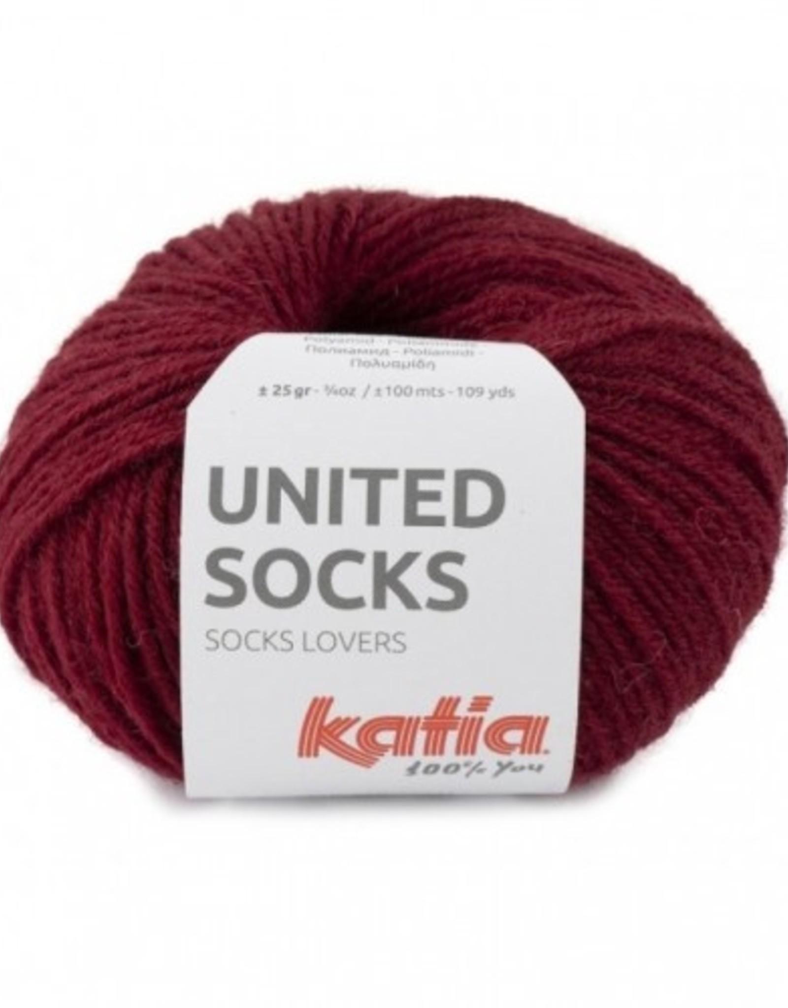 Katia Katia United Socks -  Bordeaux -17-