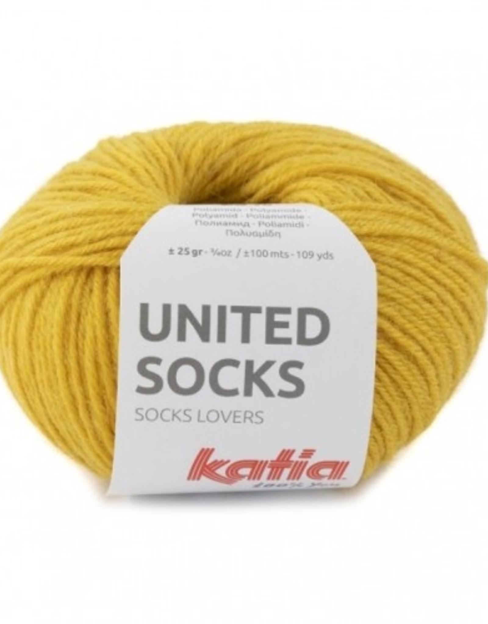 Katia Katia United Socks -  Mosterdgeel -19-