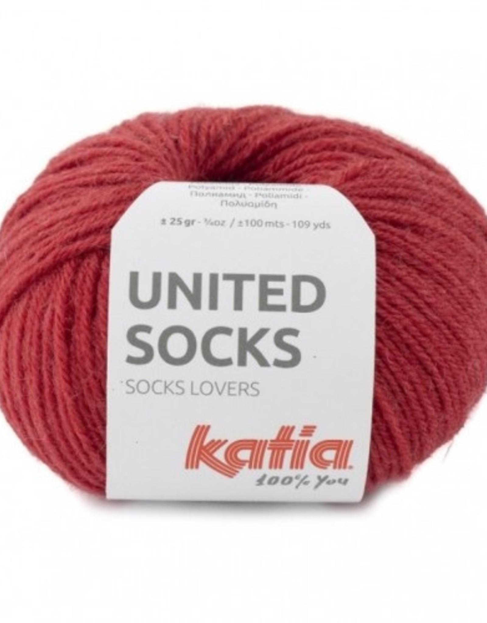 Katia Katia United Socks -  Aardbeien Rood -18-