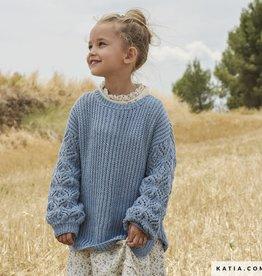 Katia Cotton-Yak - Meisjes Trui Ajoursteek
